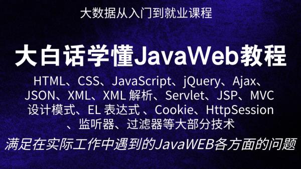 大白话学懂JavaWeb教程(Java、大数据通用教程)