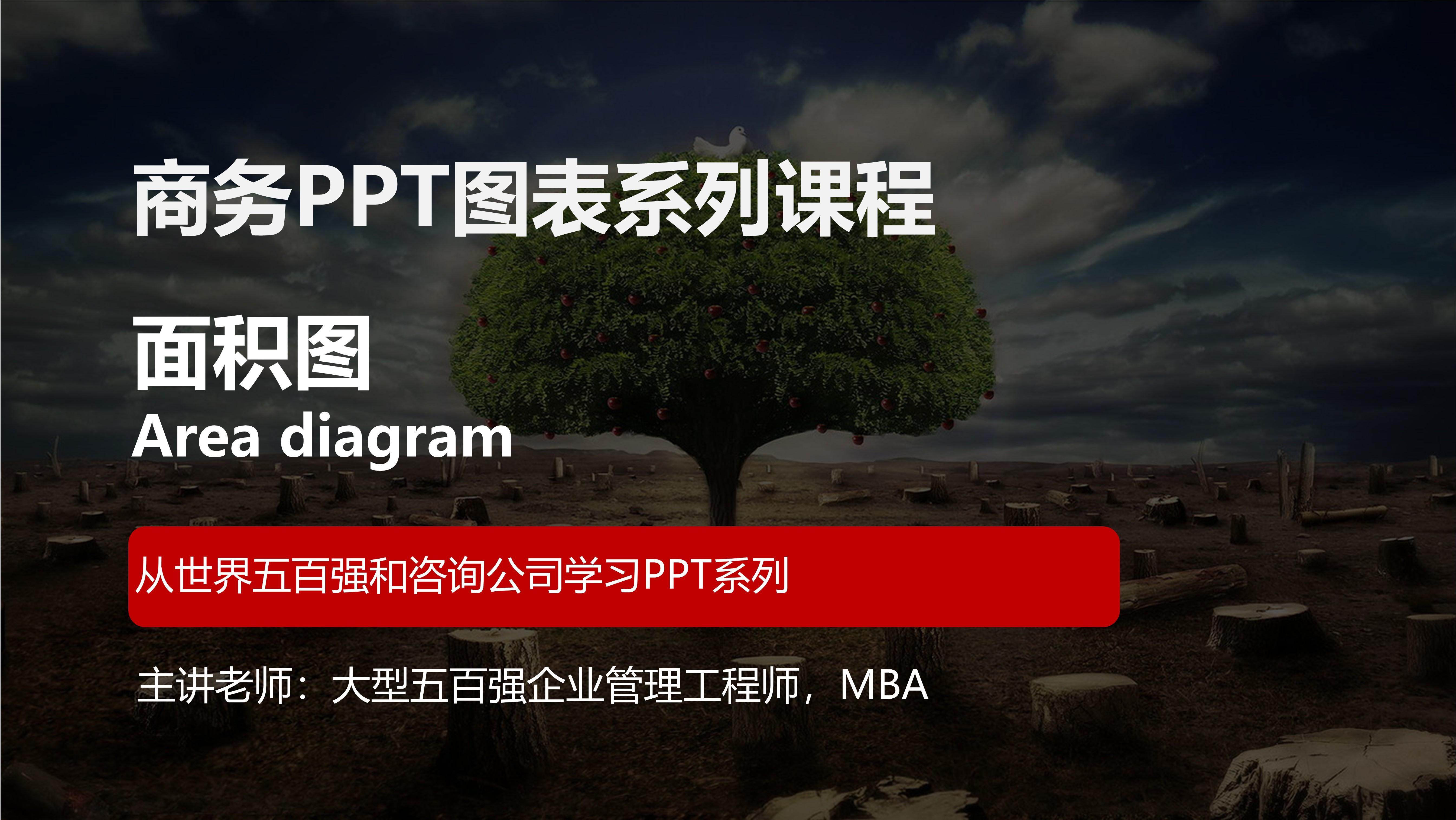 PPT面积图(TB06)免费版