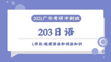 2021年广东外语外贸大学203日语广外考研冲刺班课时1