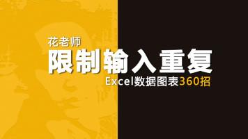《Excel数据图表360招之限制输入重复》花随花心著