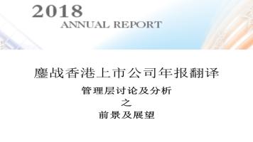 香港上市公司年报翻译之前景及展望翻译