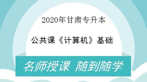 2020年甘肃专升本公共课计算机基础——适用所有考生