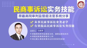 田朗亮:民商事诉讼实务技能——原最高院审判监督庭法官系统分享