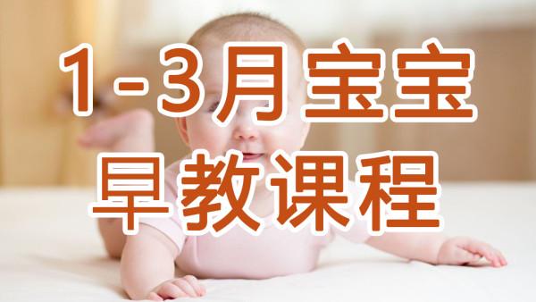 如何给1-3月宝宝做早教?系统视频课程:宝宝的最佳早教方案