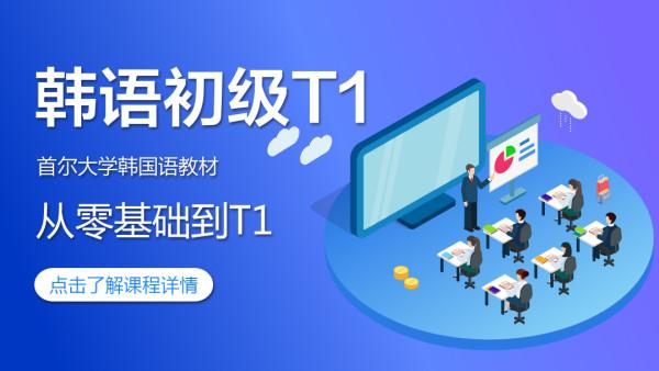韩语初级T1——零基础到t1全课程