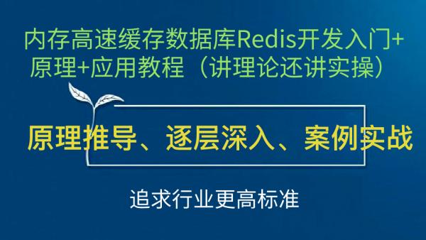 内存高速缓存数据库Redis开发入门+原理+应用教程