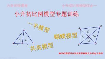 小升初奥数比例模型一(一半模型、共高模型、蝴蝶模型综合训练)