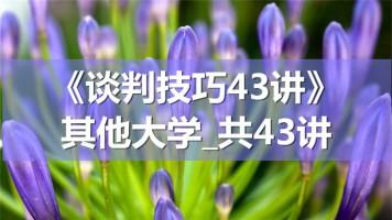 K8615_《谈判技巧43讲》_其他大学_共43讲