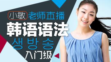 【录播】韩语初级语法自学视频,韩国语语法轻松学-小敏老师