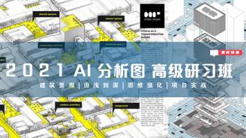[建筑/景观软件]IlIUSTRATOR建筑景观极致分析图研习班