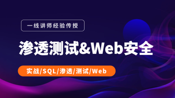 Web安全+渗透测试(SQL/渗透/Web)