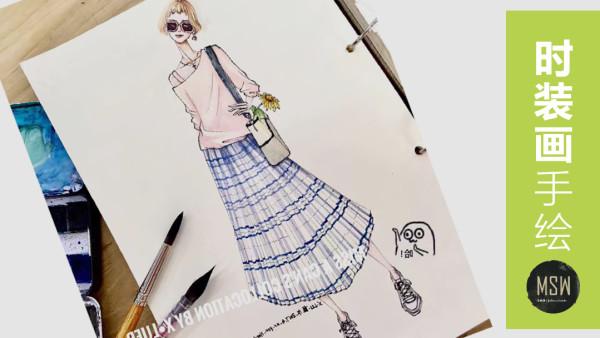 时装画手绘 服装款式与结构解析 服装手绘【名师屋】