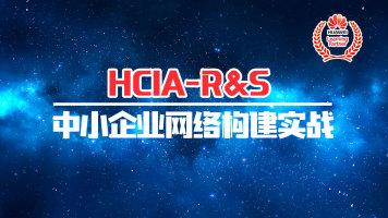 HCIA中小企业网络构建实战-华为数通认证|路由交换|HCNA