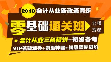名师王成瑶精讲班2018年会计从业会计基础初级会计实务经济法备考