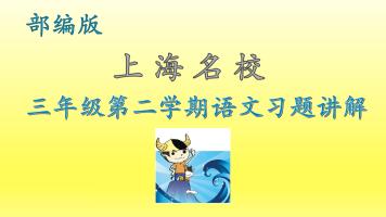 上海名校 三年级第二学期语文同步练习(部编版)(牛娃汇)