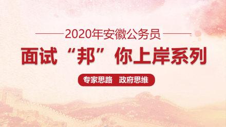 2020年安徽公务员面试——专家思路政府思维
