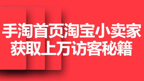 【巨皇教育】手淘首页淘宝小卖家获取上万访客秘籍实操教程