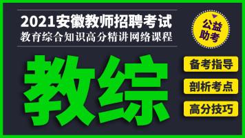 2021安徽教师招考《教综》高分精讲网络课程-先华教师