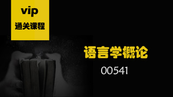 自考 语言学概论 00541 汉语言本科 人力本科 专升本 成人学历