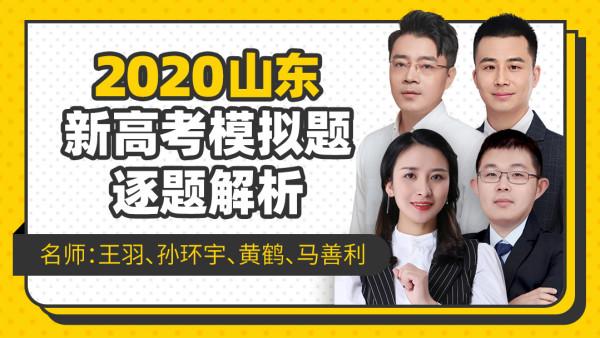 2020新高考山东模拟卷全面剖析【高考模拟专题】-王羽课堂