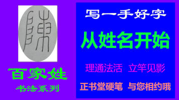 陈-百家姓书法系列之正书堂书法之硬笔书法、写字视频教程