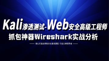kali渗透测试/web安全/白帽子黑客/网络安全/抓包神器wireshark