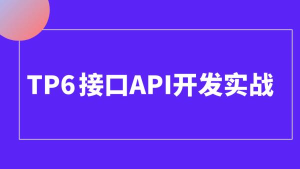 tp6/thinkphp6/vue接口api开发/前后端分离/电商实战
