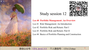 CFA Level 1 Portfolio Management
