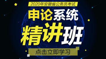 2020安徽省考申论系统精讲班