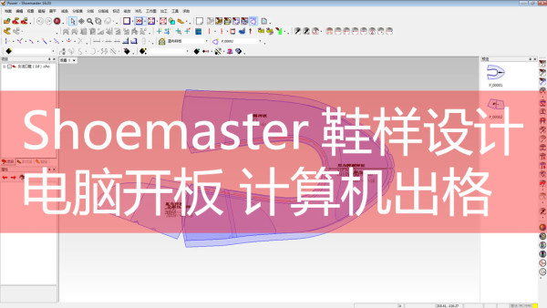 shoemaster计算机鞋样初级 电脑鞋样设计 设计软件【新方向鞋样】