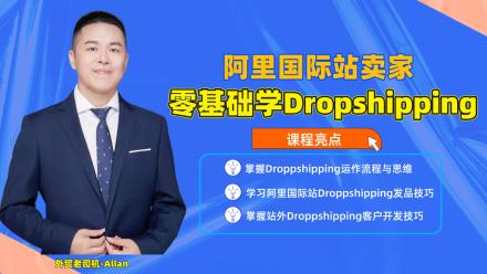 阿里国际站卖家零基础学习Dropshipping【跨境电商/独立站】