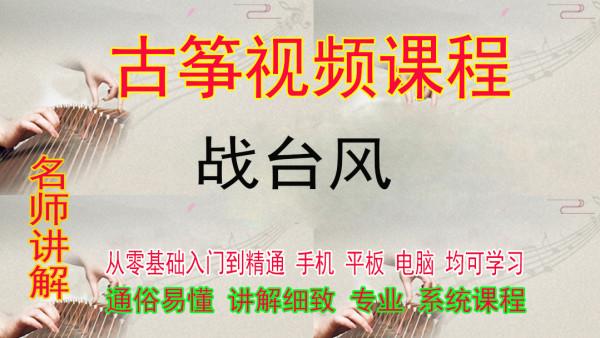 战台风古筝视频教程零基础入门一对一在线培训网络课程