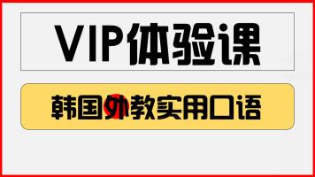 韩语外教口语vip课程体验课