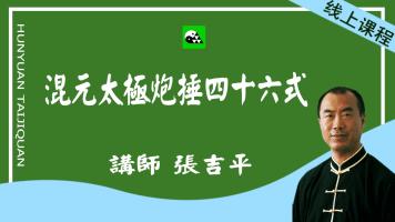 混元太极炮捶46式-冯志强陈式心意混元炮锤-张吉平分解教学