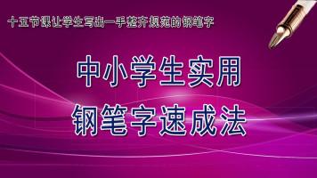 中小学实用钢笔楷书速成法(规范字体)