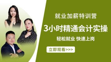 【官方推荐】3小时精通会计实操【就业加薪特训营】-限时1元