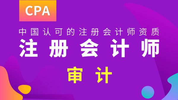 注册会计师CPA审计精品课