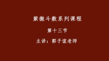 郭子谊讲紫微斗数系列课程【13】