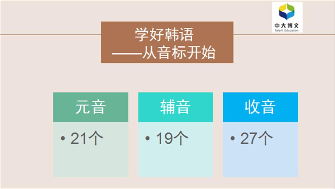 韩语0基础入门发音课