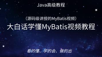 大白话学懂MyBatis视频教程(国内首套:源码级MyBatis视频)