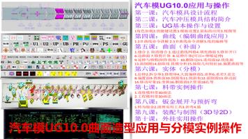 汽车模UG10.0曲面造型应用与分模实例操作