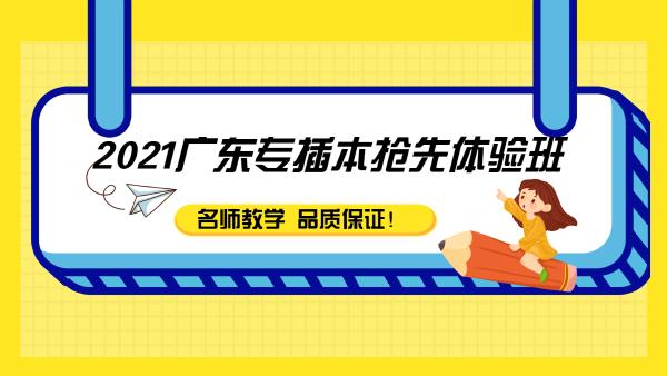 广东专插本2021抢先体验课