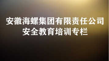 四十四、安徽海螺集团有限责任公司安全教育培训专栏