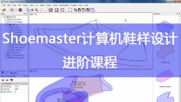 shoemaster计算机鞋样中级 电脑鞋样设计 设计软件【新方向鞋样】