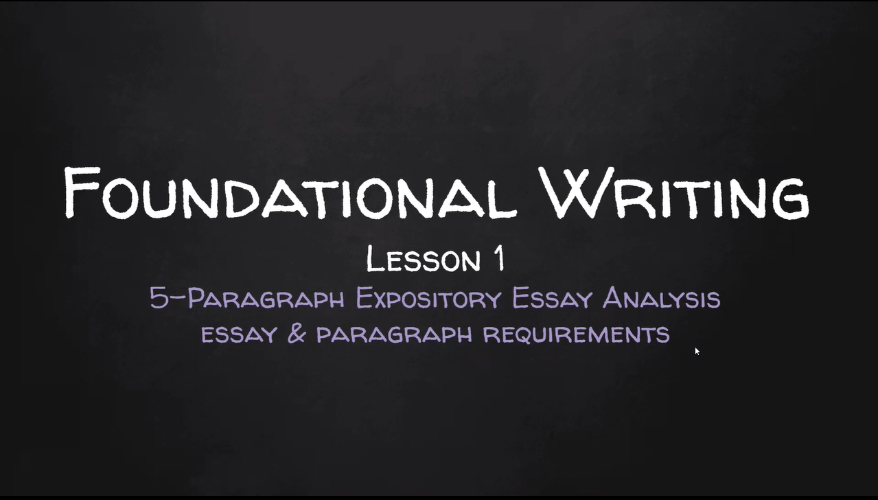 Foundational Writing 1