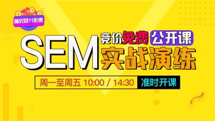 SEM百度竞价培训|网络营销推广教程|360UC神马搜狗|自媒体引流SEO