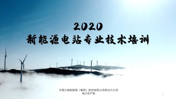 新能源电站专业技术培训2020