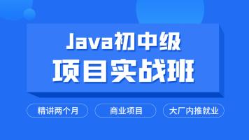 Java初中级就业班/精讲两个月/项目实战/高并发/分布式/推荐就业