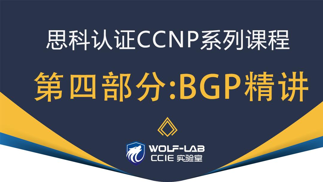 WOLF实验室思科CCNP课程之BGP精讲