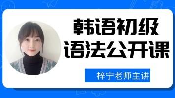 韩语初级语法公开课【梓宁韩国语】
